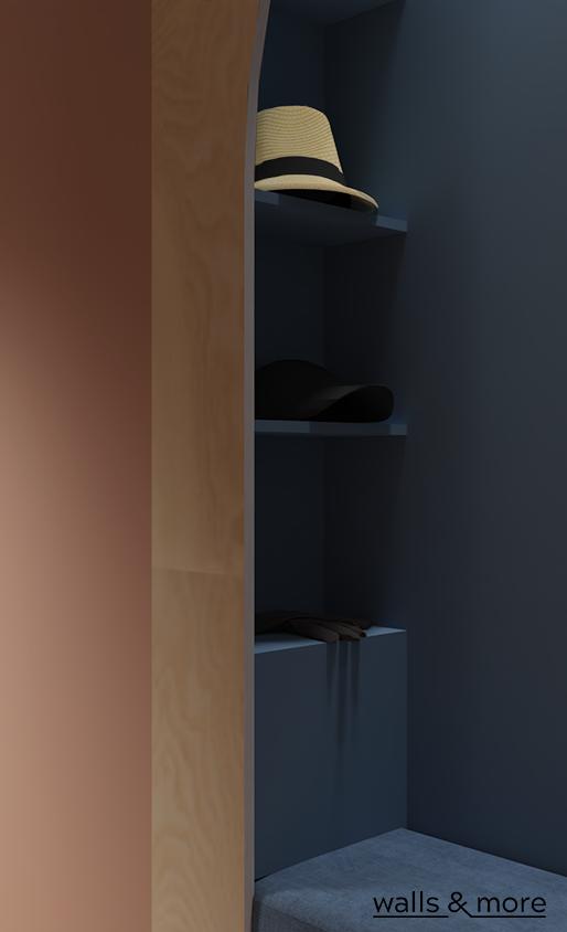 pastelowa geometria wallsandmore walls&more projektowanie wnętrz architekt wnętrz design przedpokój