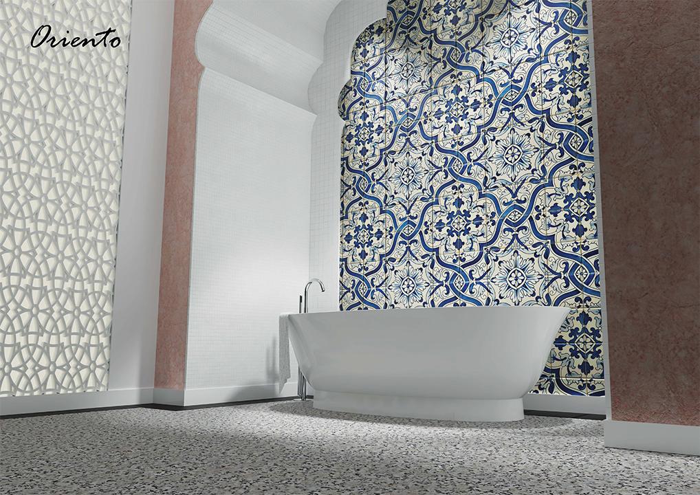 łazienka ceramika Laufen new classic łazienka w stylu orientalnym wanna wolnostojąca wallsandmore walls&more projekotwanie wnętrz architekt wnętrz Warszawa
