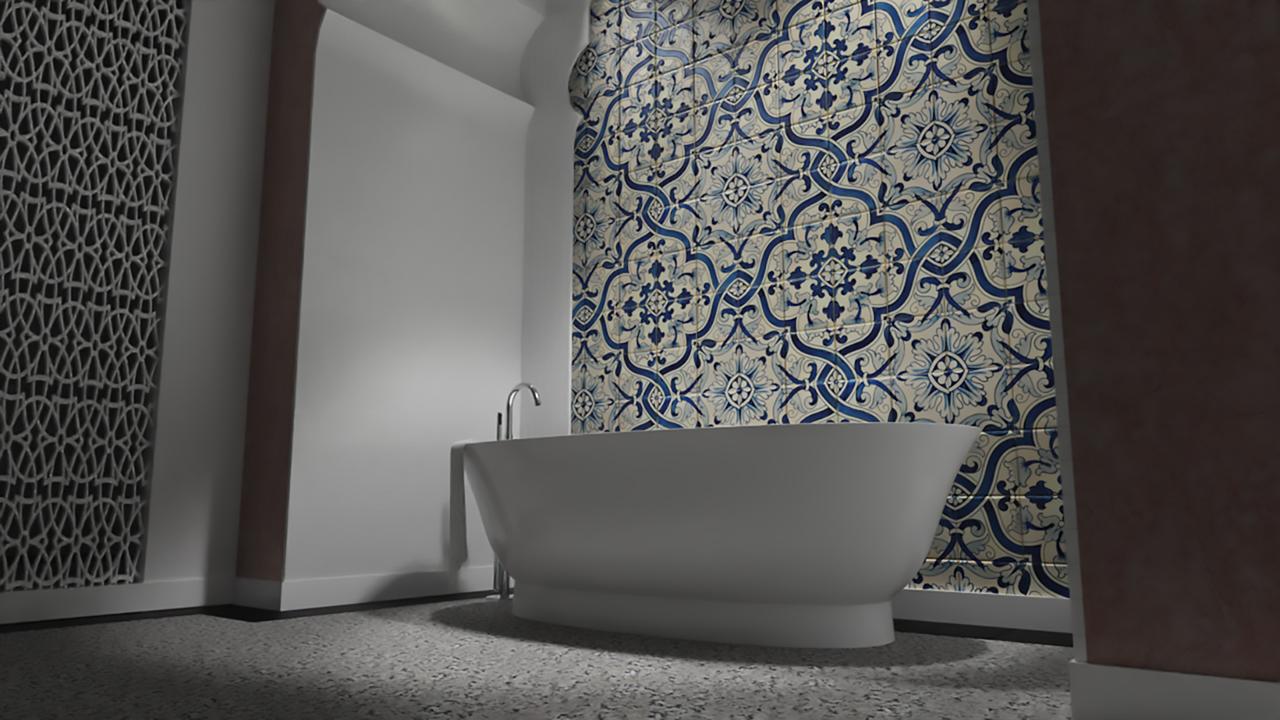 łazienka ceramika Laufen łazienka w stylu orientalnym wanna wolnostojąca wallsandmore walls&more projekotwanie wnętrz architekt wnętrz Warszawa